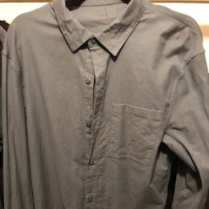 Lululemon All Town Buttondown Sea Steel